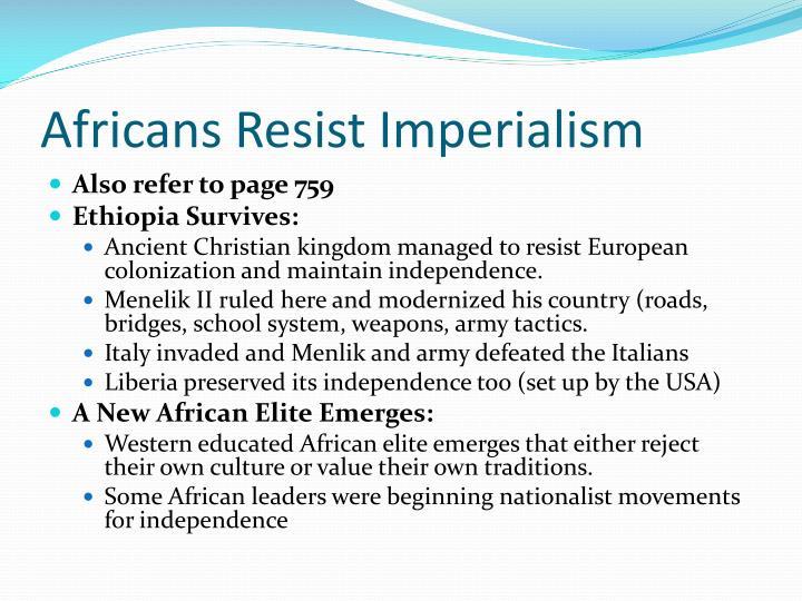 Africans Resist Imperialism