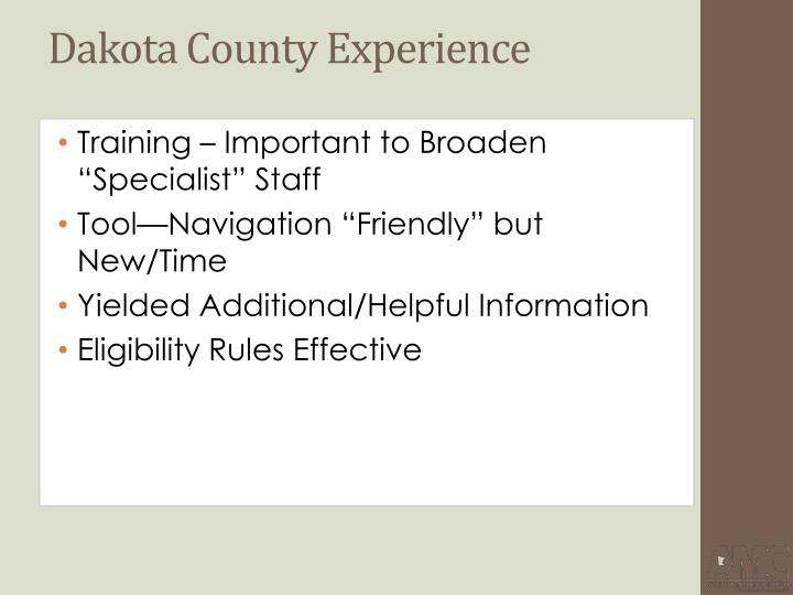 Dakota County Experience