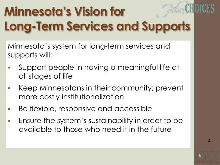 Minnesota's Vision for