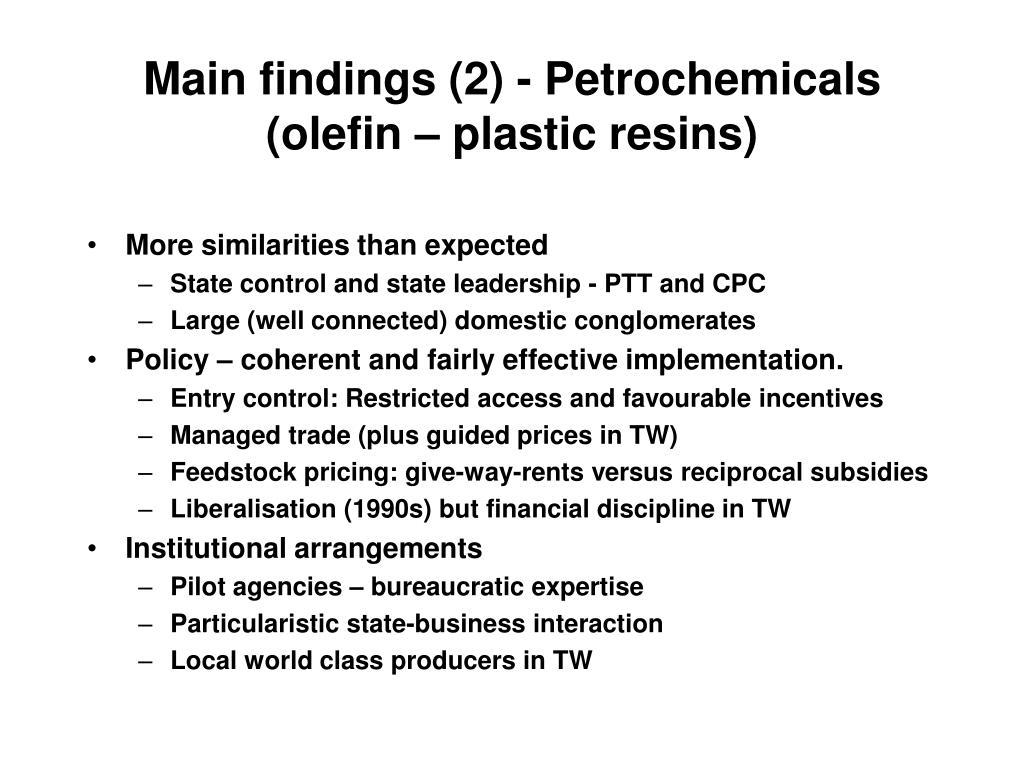 Main findings (2) -
