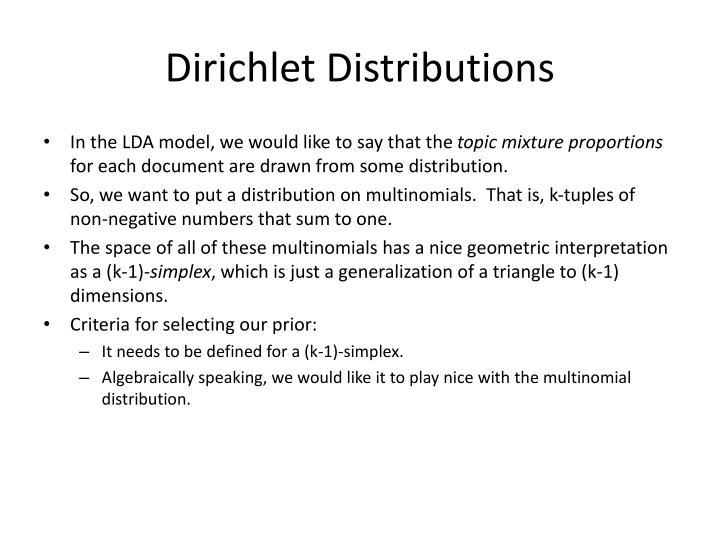 Dirichlet Distributions
