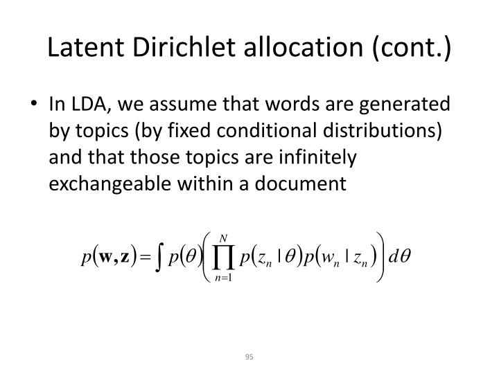 Latent Dirichlet allocation (cont.)