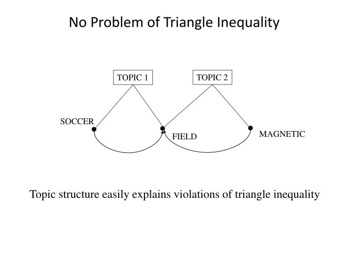 No Problem of Triangle Inequality