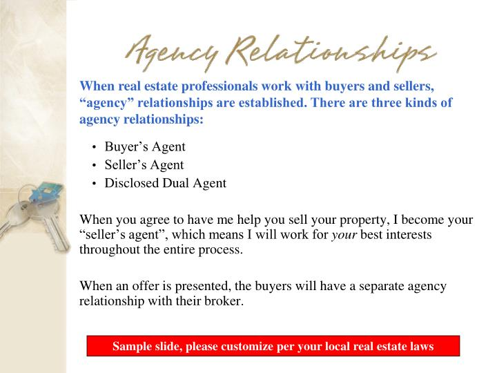 When real estate professionals work with buyers and sellers,