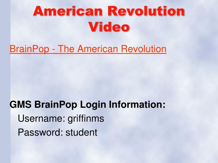 American Revolution Video
