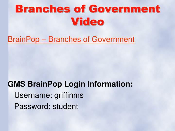 Branches of Government Video
