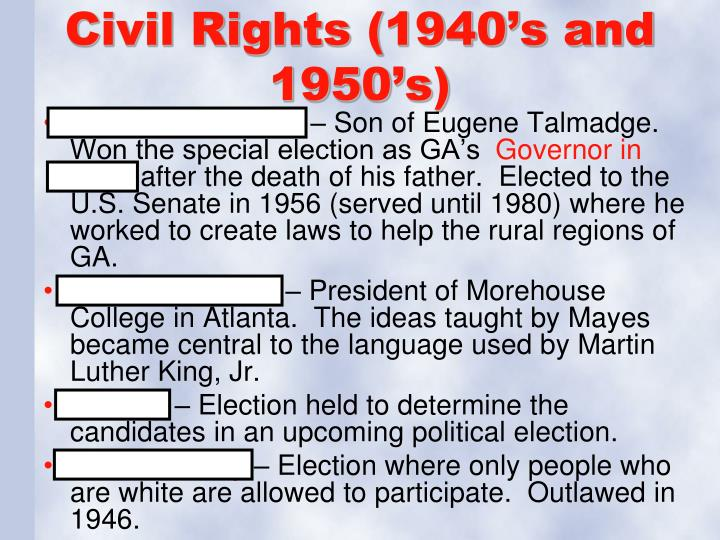 Civil Rights (1940's and 1950's)