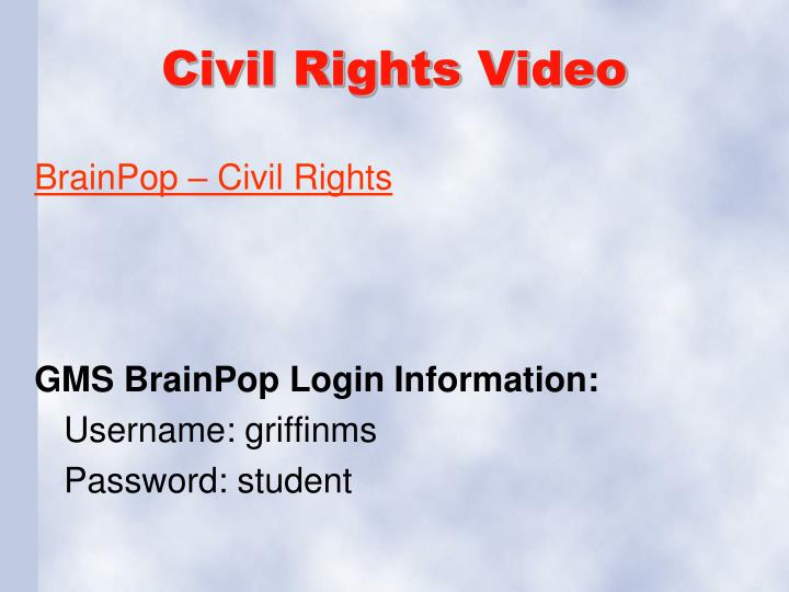 Civil Rights Video