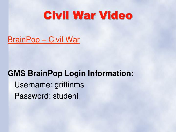 Civil War Video