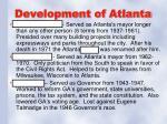 development of atlanta