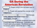 ga during the american revolution