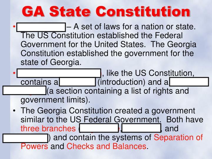 GA State Constitution