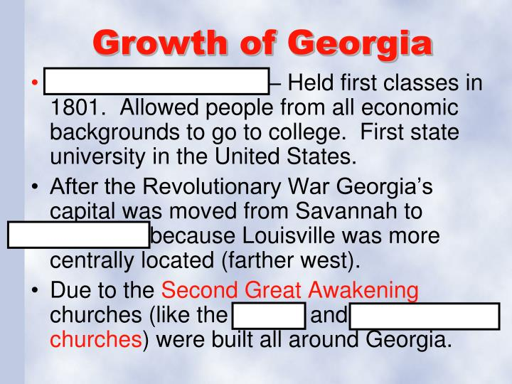Growth of Georgia