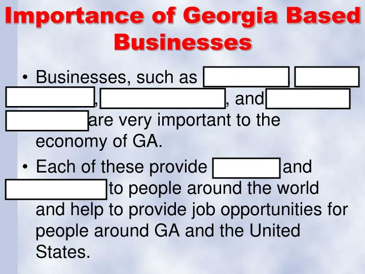 Importance of Georgia Based Businesses
