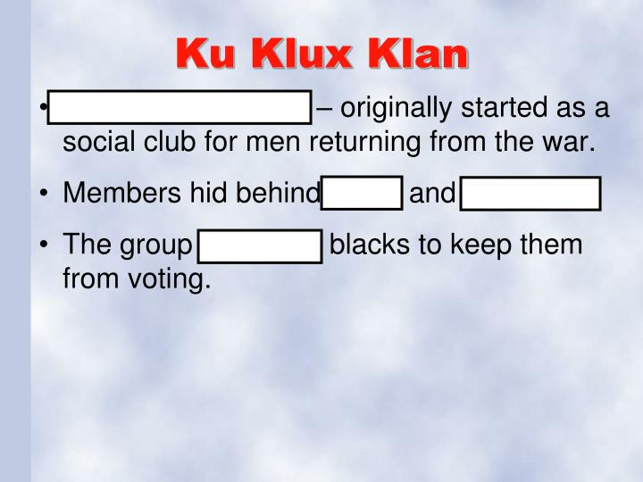 Ku Klux Klan
