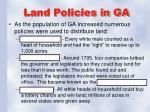 land policies in ga