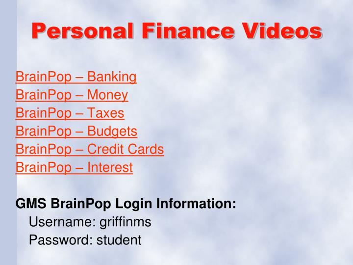 Personal Finance Videos