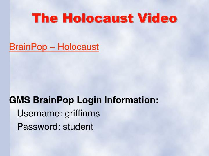 The Holocaust Video