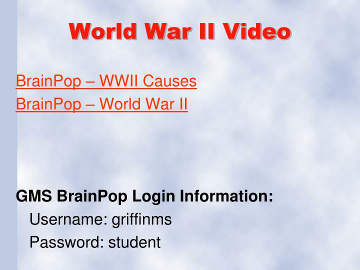 World War II Video