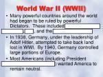 world war ii wwii