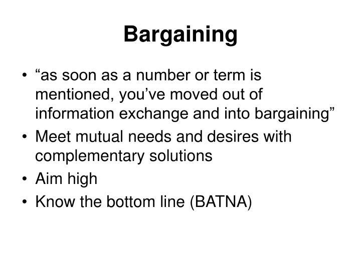 Bargaining