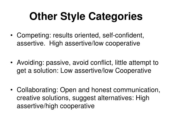 Other Style Categories