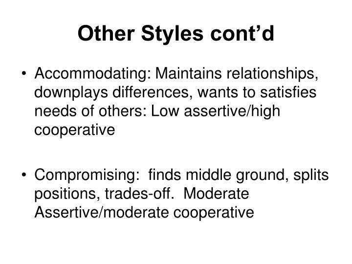 Other Styles cont'd