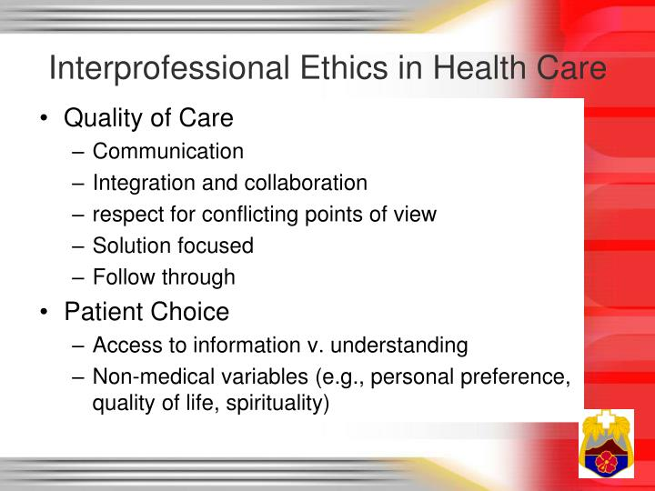 Interprofessional Ethics in Health Care