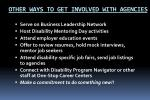 other ways to get involved with agencies
