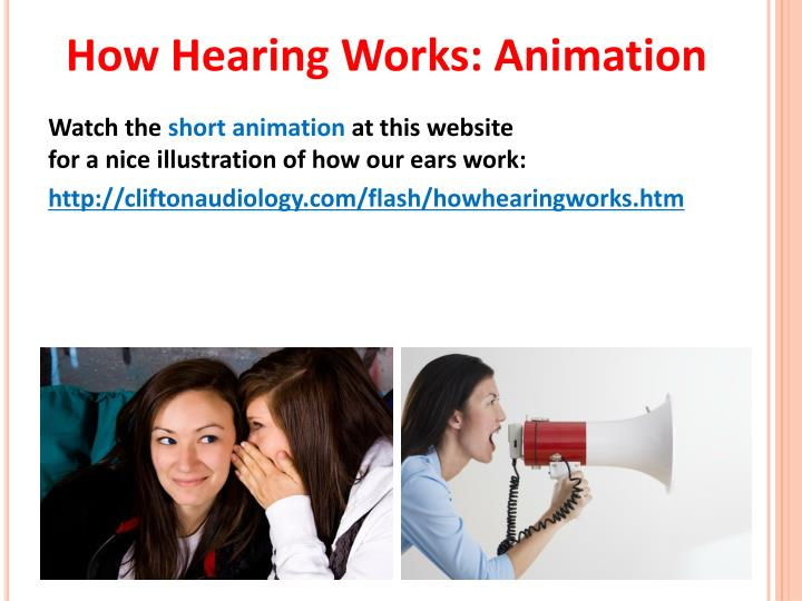 How Hearing Works: Animation