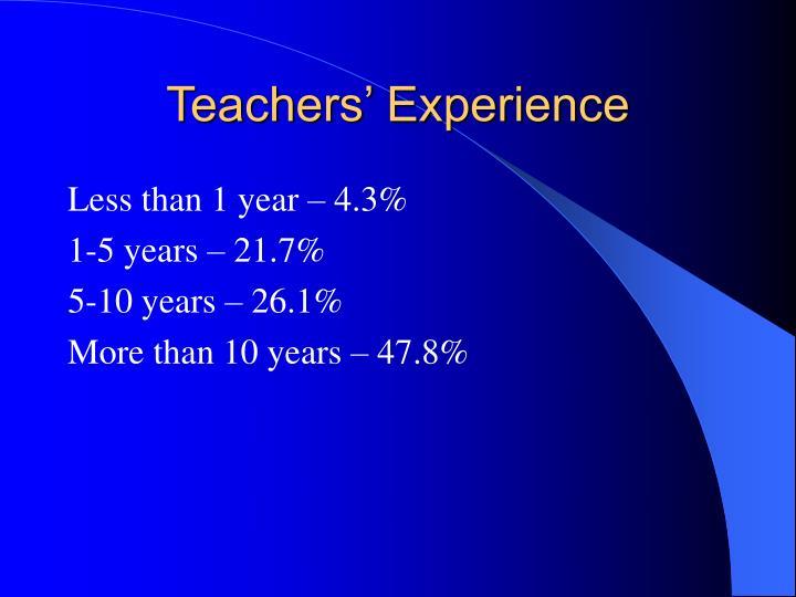 Teachers' Experience