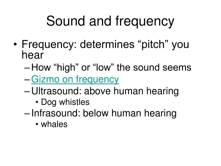 Sound and frequency