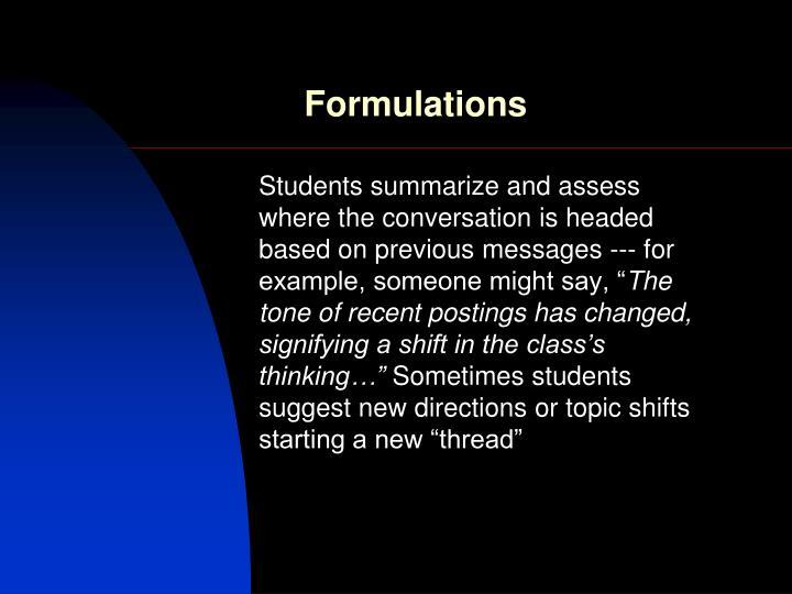 Formulations