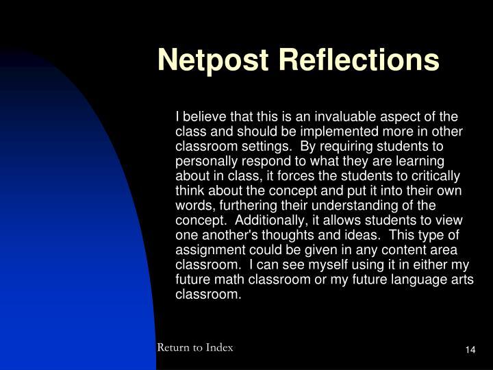 Netpost Reflections