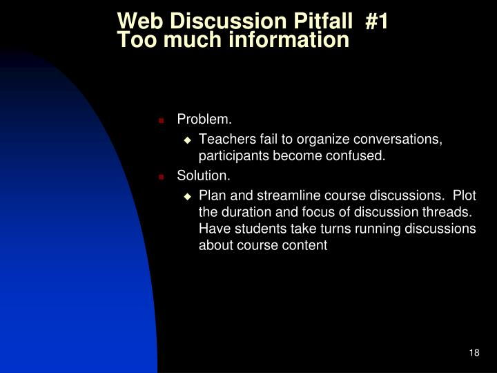 Web Discussion Pitfall  #1
