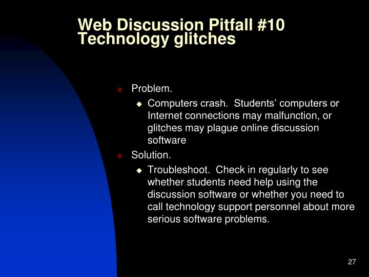 Web Discussion Pitfall #10