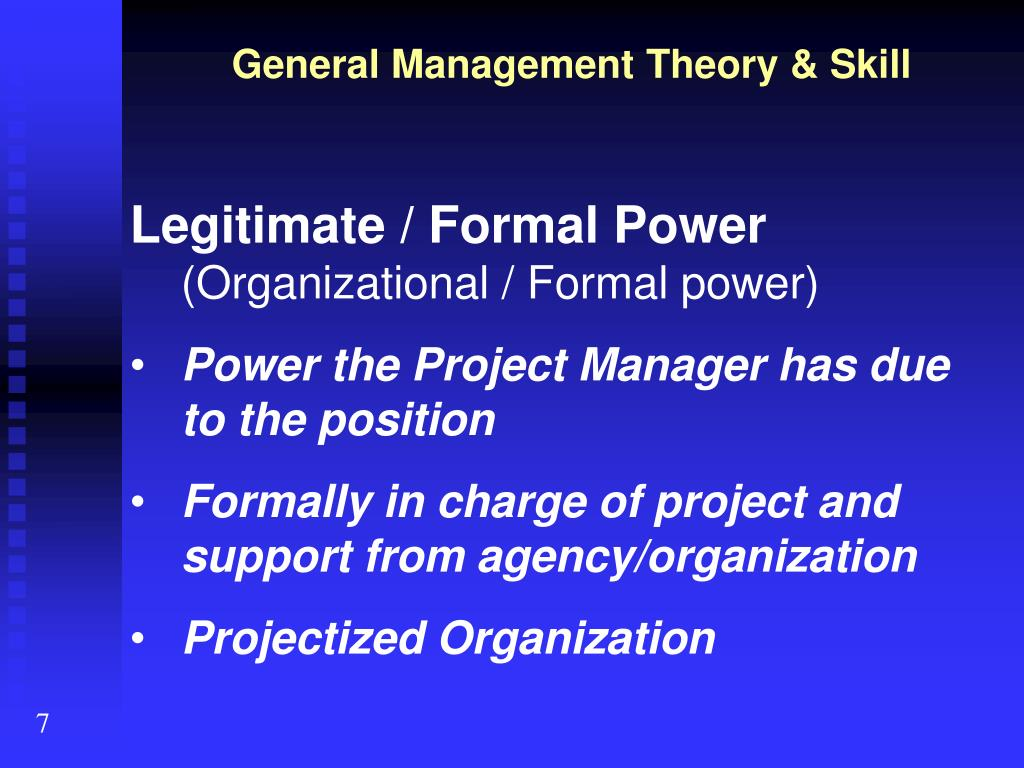 General Management Theory & Skill