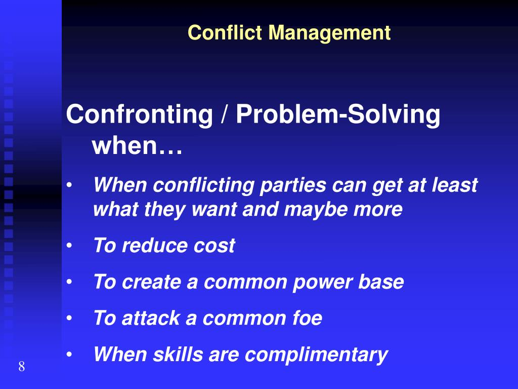 conflict mgmt project
