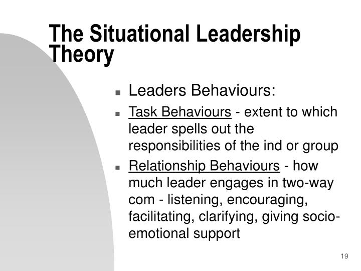 The Situational Leadership Theory
