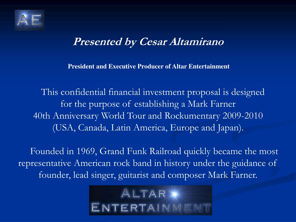 Presented by Cesar Altamirano