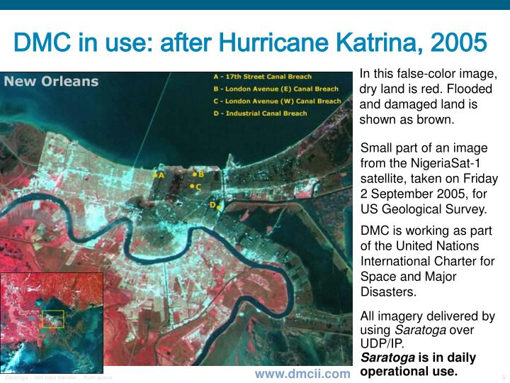 DMC in use: after Hurricane Katrina, 2005