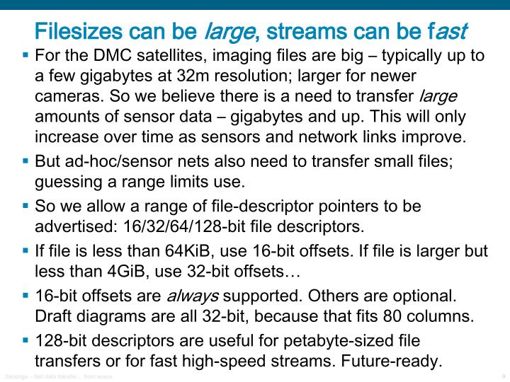 Filesizes