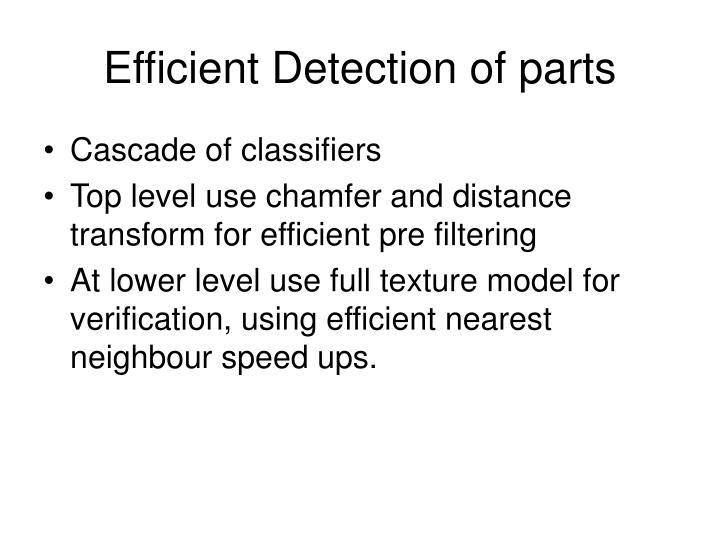 Efficient Detection of parts