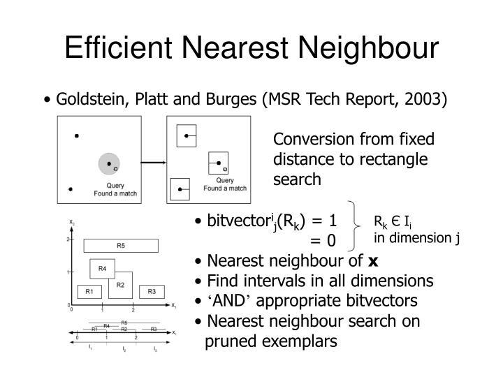 Efficient Nearest Neighbour