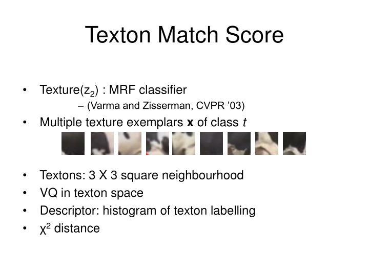 Texton Match Score