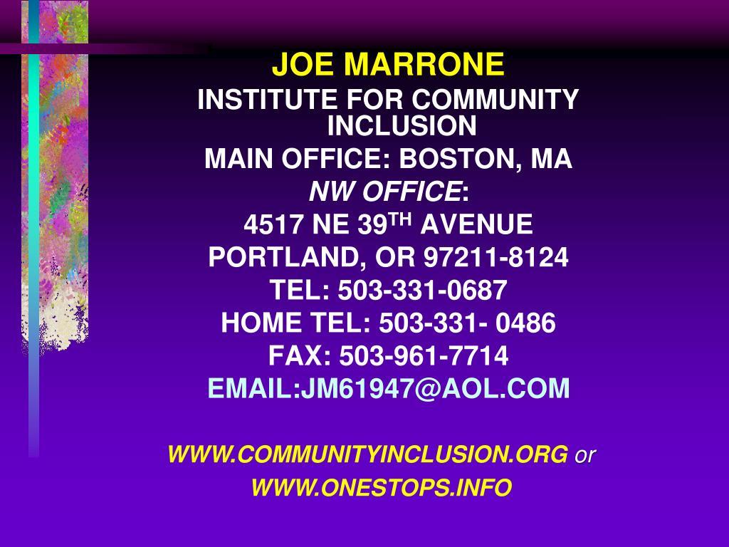 JOE MARRONE