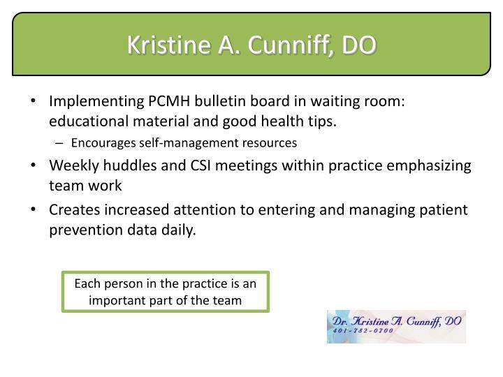 Kristine A. Cunniff, DO