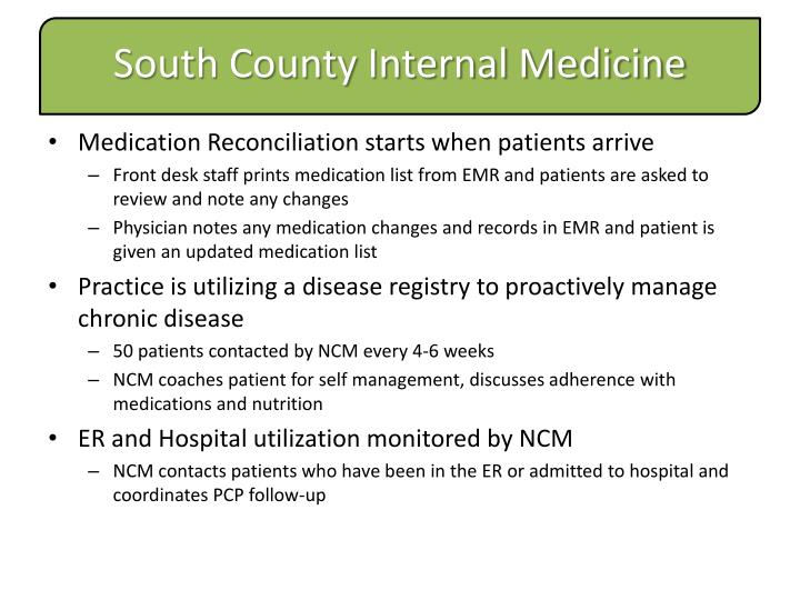 Medication Reconciliation starts when patients arrive