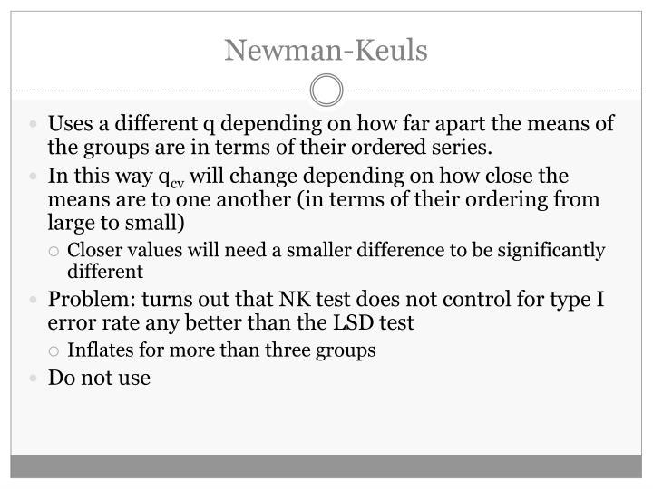 Newman-Keuls