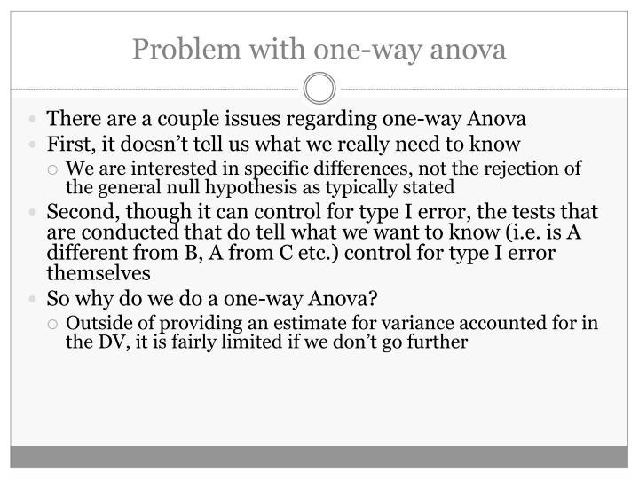 Problem with one-way anova